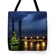 Leaving Galveston Tote Bag featuring the photograph Leaving Galveston by Debra Martz