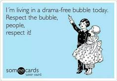 This is exactly what Hypnobabies (Official) moms do with their Bubble of Peace. Any negativity just bounces right off so that they can create a positive birth experience! No stress for mama = no stress for baby.