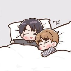 Chanbaek Fanart, Kpop Fanart, Kaisoo, Exo Couple, Anime Love Couple, Nct Logo, Exo Cartoon, Exo Anime, Exo Fan Art