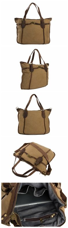 Genuine Cow Leather Canvas Bag Tote Bag Messenger Bag Canvas Bag Laptop Bag Leather Satchel