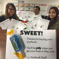 Sweet treat with yearbook purchase \ Alief Hastings High School