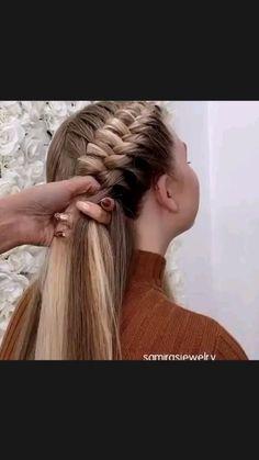 French Braid Hairstyles, Braided Hairstyles Tutorials, Winter Hairstyles, Casual Braided Hairstyles, Fun Hairstyles, French Braids, Hair Tutorials, Front Hair Styles, Medium Hair Styles