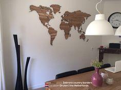MapaWall wooden map Zebrano