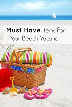 Must Have Items For Your Beach Vacation - create a packing list for your next vacation and don't forget these beach items for you and the family Beach Vacation Tips, Vacation Savings, Beach Gear, Beach Trip, Vacation Ideas, Beach Vacations, Beach Travel, Vacation Packing, Usa Travel