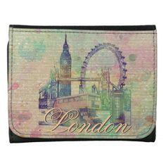Beautiful trendy Vintage London Landmarks Leather Wallets