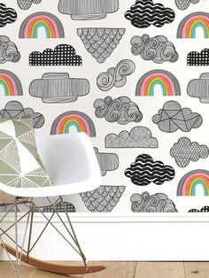Clouds + Rainbows Wallpaper