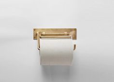 Chiba Metal Works & Design Brass Toilet Paper Roll Holder | Remodelista