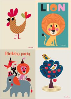 Vintage style kids posters by Ms Arrenhuis-to paint