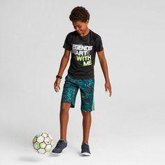 Boys' Printed Lacrosse Shorts - C9 Champion Forging Green M