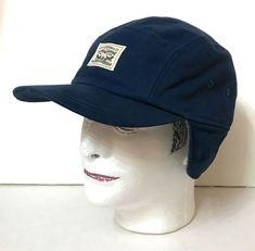 2cc59b43801da LEVI STRAUSS FIVE 5 PANEL TRAPPER HAT Navy Blue Outdoor Camper Ear Flap Men  L