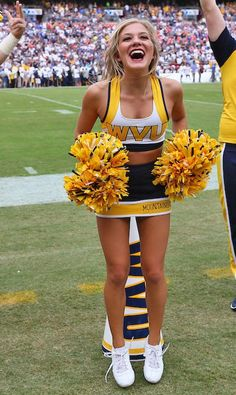 A look back at our 30 favorite cheerleaders from the first seven weeks of the 2016 college football season. They can cheer for us anytime!… - A look back at our 30 favorite cheerleaders from the first seven weeks of the Cheerleading Outfits, Cheerleading Workouts, Hottest Nfl Cheerleaders, College Cheerleading, Cheerleading Pictures, Football Cheerleaders, Rugby, College Football Season, Football Parties
