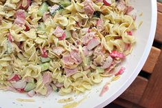 pastasalade ! ziet er heerlijk uit, maar natuurlijk zonder de ham