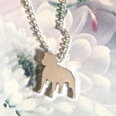 Staffordshire Bull Terrier Pendant by SweetRosieJewellery on Etsy