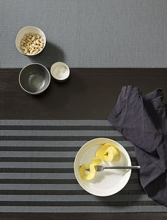 Table runner By Woodnotes design Ritva Puotila Layout Design, Table Accessories, Food Preparation, Table Runners, Kitchen Appliances, Kitchens, Kitchen Design, Cooking Recipes, Plates