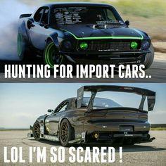 Ha ha ha.... ... I bet that rx7 is running an LS american V8 though