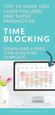 Learn how to plan your day with these time blocking tips. This productivity secret will make you laser focused on your business priorities. Plus grab a free time blocking template! Inbound Marketing, Content Marketing, Business Marketing, Marketing Automation, Business Education, Business School, Marketing Tools, Affiliate Marketing, Media Marketing