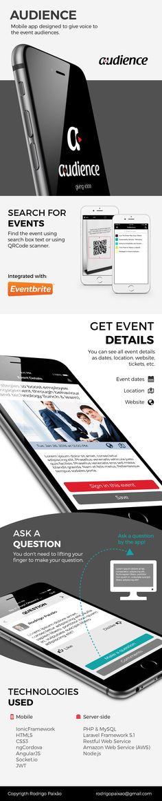 Mobile app designed to give voice to the event audiences.  #eventapp #audience #events #portfolio #ionicframework #nodejs #phonegap #javascript #angularjs #socketio