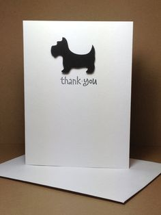 Scottie Dog Thank You Cards via Etsy