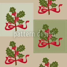Preppy Holly created by Katrin Kristjansdottir offered as a vector file on patterndesigns.com