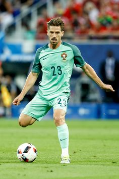 #EURO2016 Adrien Silva of Portugal during the UEFA Euro 2016 Semi Final match between Portugal and Wales at Stade des Lumieres on July 6 2016 in Lyon France
