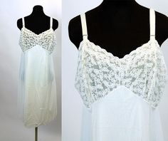 1960s slip 1960s lingerie Philmaid slip Size L by vintagerunway,