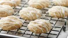 These cute and easy holiday almond cookies sparkle like freshly fallen snow!