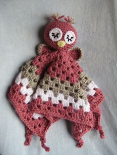 Crochet Owl Security Blanket.... Wish I could find someone who can make this