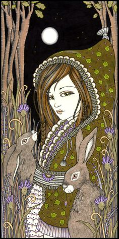 Andraste by Art by Anita Inverarity Ink on Illustration Board