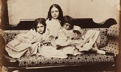 Edith Mary Liddell, Ina Liddell and Alice Liddell by Lewis Carroll (Charles Lutwidge Dodgson), 1858.