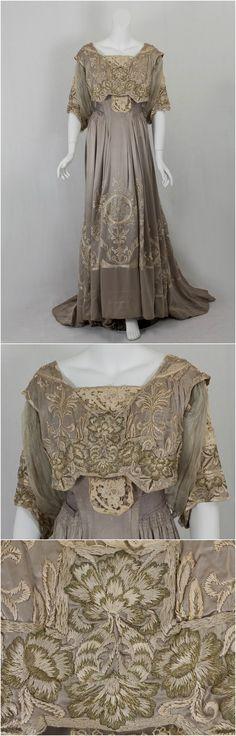 Dinner dress by Callot Soeurs, c. 1905, Vintage Textile
