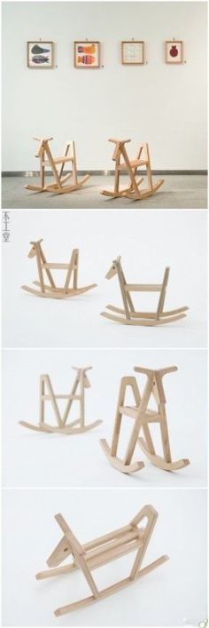 66 Ideas For Diy Baby Toys Wooden Rocking Horses Woodworking For Kids, Woodworking Projects, Home Decor Hacks, Kids Wood, Wooden Crafts, Wood Toys, Kids Furniture, Diy For Kids, Baby Toys