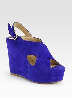 Dolce Vita - Julie Suede Slingback Wedge Sandals - Saks.com