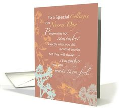 Colleague, Nurses Day Wildflowers on Brown card (922761)