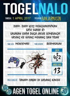 Kode Wangsit 4D Togel Wap Online TogelNalo Banjarmasin 1 April 2017