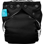 Charlie Banana 2-in-1 Reusable Diapering System, 1 Diaper and 2 Inserts, (One Size), Black $16.67