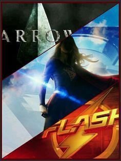 #Arrow #Flash e #SUPERGIRL DCWallpaper