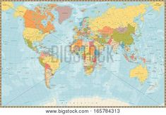 Illustration about Large detailed vintage color political World Map with lakes and rivers. Highly detailed vector illustration of World Map. Illustration of color, america, land - 84430449 Royalty Free Images, Royalty Free Stock Photos, Cartography, Free Vector Art, Vintage Colors, Photo Illustration, Clipart, Maui, Lakes