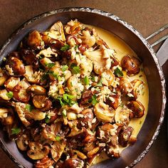 This hearty Christmas dish is full of robust garlic and fresh herbs, and it has under 200 calories per serving! http://www.bhg.com/christmas/dinner/vegetarian/?socsrc=bhgpin112714mushroomfricassee&page=2