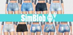 9 High Waisted Shorts at SimBlob • Sims 4 Updates