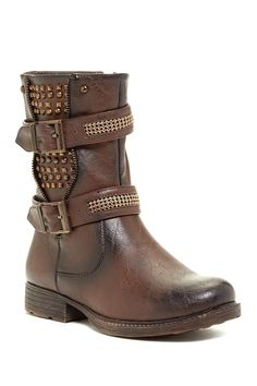EXTREME By Eddie Marc | Trinity Buckled Studded Boot | Nordstrom Rack