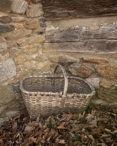 Antique Basket by The Chimney