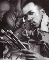 Charles White -1918-1979. He was an African-American graphic artist, painter, and instructor.  Working primarily in black/white and sepia/white, he was an incredibly skilled draftsmanship whose sensitivity and power has reached millions.  His meticulously executed drawings and paintings speak of and affirm the humanity and beauty of black people.