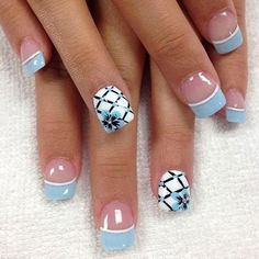 Best Spring Nails – 31 Best Spring Nails for 2018 – Fav Nail Art - Nail Designs French Manicure Nail Designs, Fingernail Designs, French Tip Nails, Toe Nail Designs, Nail Designs Spring, Nail Manicure, Diy Nails, French Manicures, Nails Design