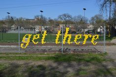 Typography Fence Art by Lambchop Photo  http://design-milk.com/typography-fence-art-by-lambchop/#more-118861