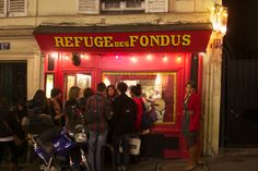 Fondue restaurant in Paris.  Been there both trips to Paris!