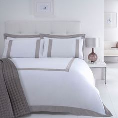 J by Jasper Conran Natural 'Savoy' bed linen- at Debenhams.com