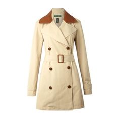 Ralph Lauren trench coat Lauren by Ralph Lauren Beige Kalida Trench with super soft Leather Collar. Mac / trenchcoat. Standard length. Double breasted. Revere collar. Long-sleeved. Button fastening. 100% Polyester. Dry clean only. In perfect condition. Thinking about keeping 😮 Ralph Lauren Jackets & Coats Trench Coats