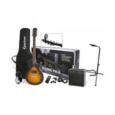 This pack has everything the new electric guitar player needs. If you want to learn electric guitar this Epiphone Les Paul Special II Electric Guitar Player Pack - Vintage Sunburst gives you a very stylish electric guitar with two classic humbucker picku Epiphone Electric Guitar, Cool Electric Guitars, Amazon Top, Epiphone Les Paul Special, Beginner Electric Guitar, Best Guitar Players, Guitar Cable, Guitar Stand, Guitars For Sale
