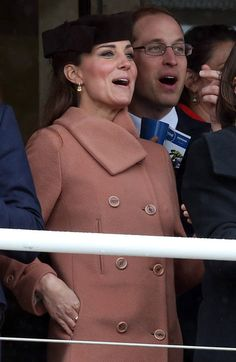 Catherine, Duchess of Cambridge and Prince William, Duke of Cambridge watch the races on Gold Cup Day at Cheltenham Racecourse on the fourth and final day of the Cheltenham Festival 2013 on March 15, 2013 in Cheltenham, England.