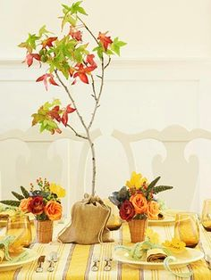 Thanksgiving Craft :: Dinner Table Centerpiece